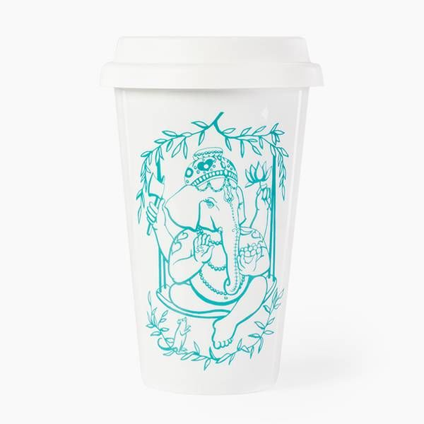 GANESHA TO STAY Porcelain cup | 0.4 l