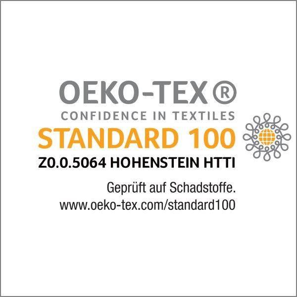 nu:ju® HOME nu:ju Wende-Kopfkissenbezug SOFT TOUCH aus Evolon®, silberionisiert, Anti-Milben | 1 Stück in 80 x 80 cm - Grau/Weiß