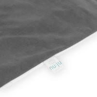 nu:ju® HOME nu:ju Allergiker Wende-Oberbettbezug SOFT TOUCH aus Evolon®, silberionisiert, hypoallergen | 1 Stück in 155 x 200 cm  - Grau/Weiß