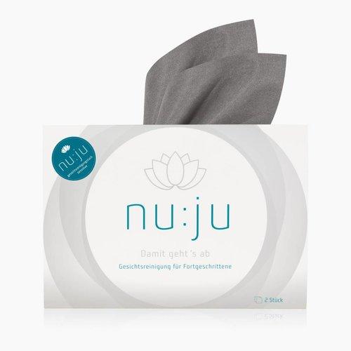 "nu:ju® BEAUTY Microfiber facial cleansing cloths ""Sensitive"" made of Evolon® | 2 cloths incl. travel case"