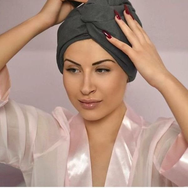 nu:ju® BEAUTY nu:ju Microfiber turban towel made of Evolon®, silver-ionized  | One Size