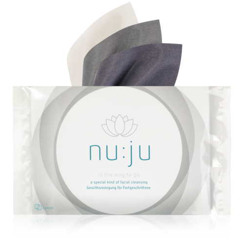 """nu:ju® BEAUTY Microfibre cleaning cloths """"get them all"""" made of Evolon® 