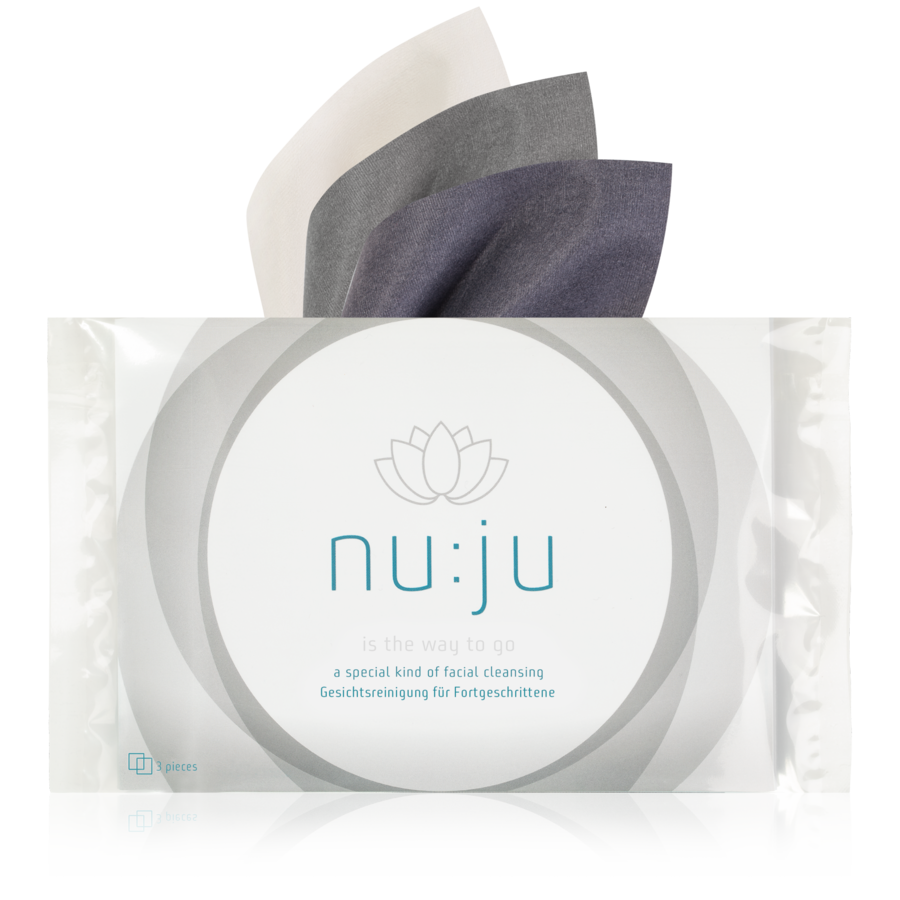 "nu:ju® BEAUTY Microfibre cleaning cloths ""get them all"" made of Evolon® 