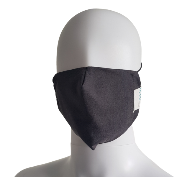 nu:ju® BEAUTY Face mask made of Evolon® microfilament fabric, Dark Grey, 1 piece, washable up to 95°C