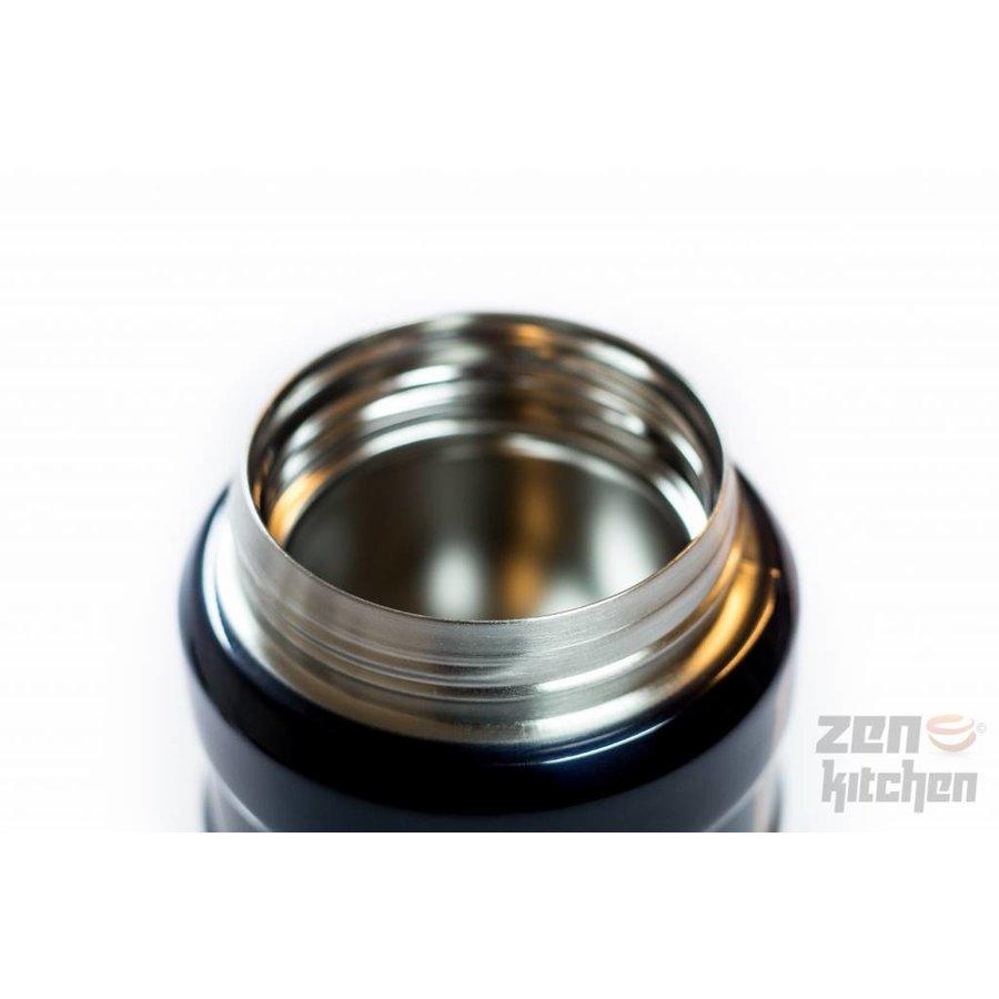 Stainless King™ Food Jar (0.47L - Metallic Blauw)-6