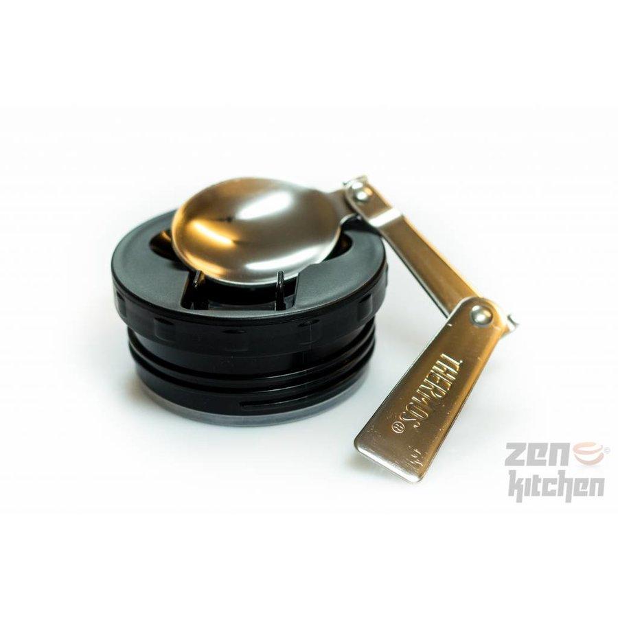 Stainless King™ Food Jar (0.47L - Metallic Blauw)-4