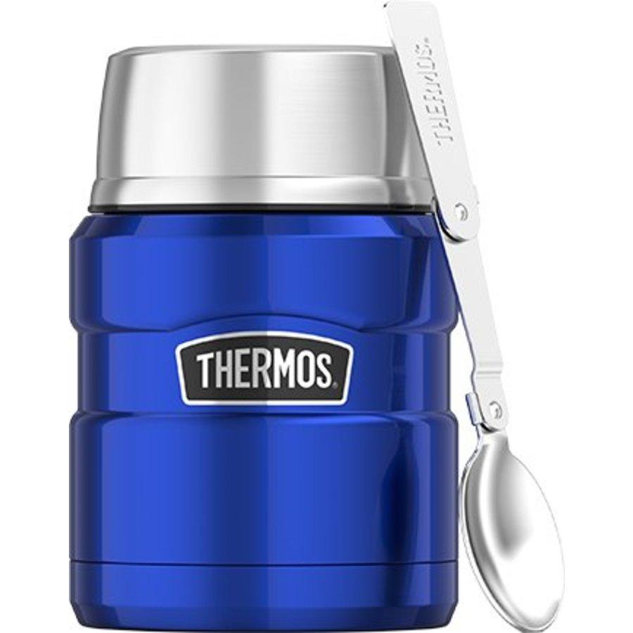 Stainless King™ Food Jar (0.47L - Metallic Blauw)-1