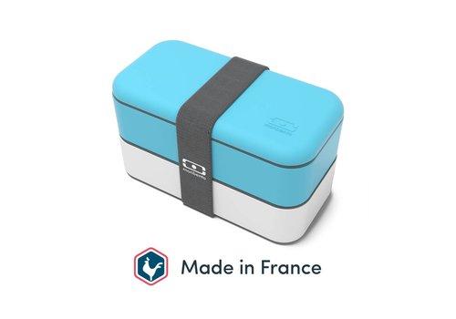Monbento Bento Box Original (Lichtblauw/Wit)
