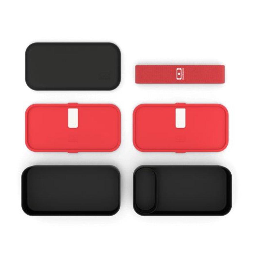Bento Box Original (Zwart/Rood)-3