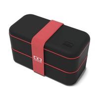 thumb-Bento Box Original (Zwart/Rood)-1