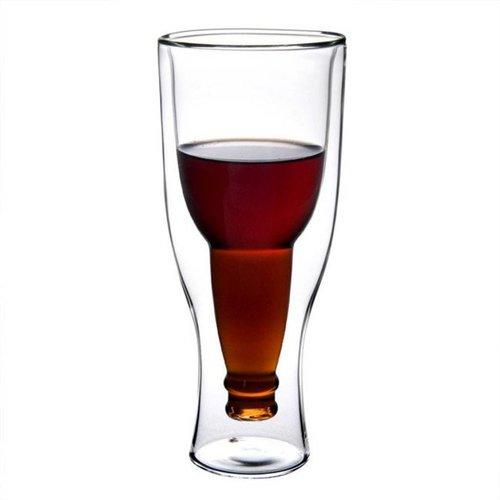 Overige Upside Down Beer Bottle Glass