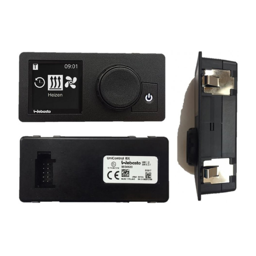 Webasto Kit UniControl 1531 digitale klok 12/24V-2
