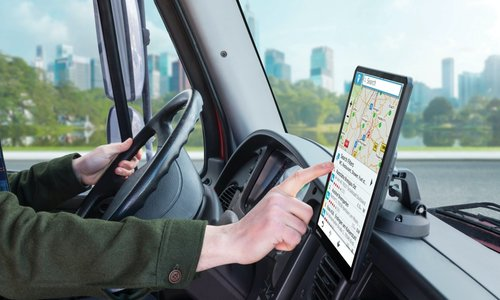 Nieuwe Trucknavigatie met extra groot display