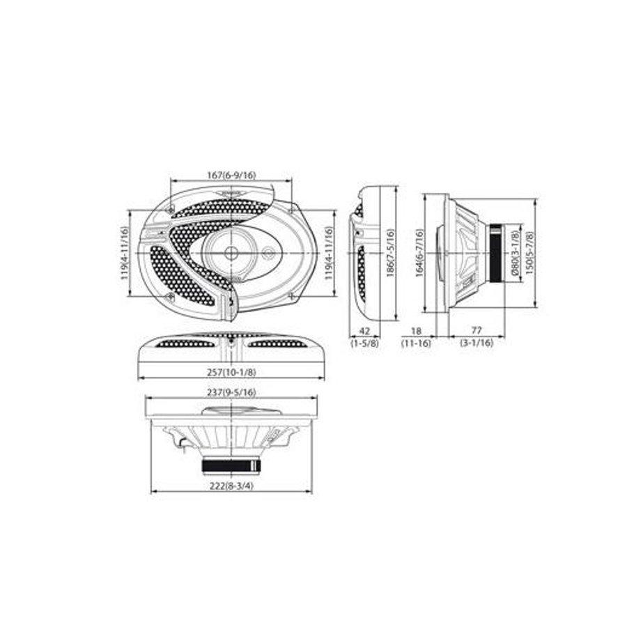 Kenwood speakerset KFC-M6932A-4