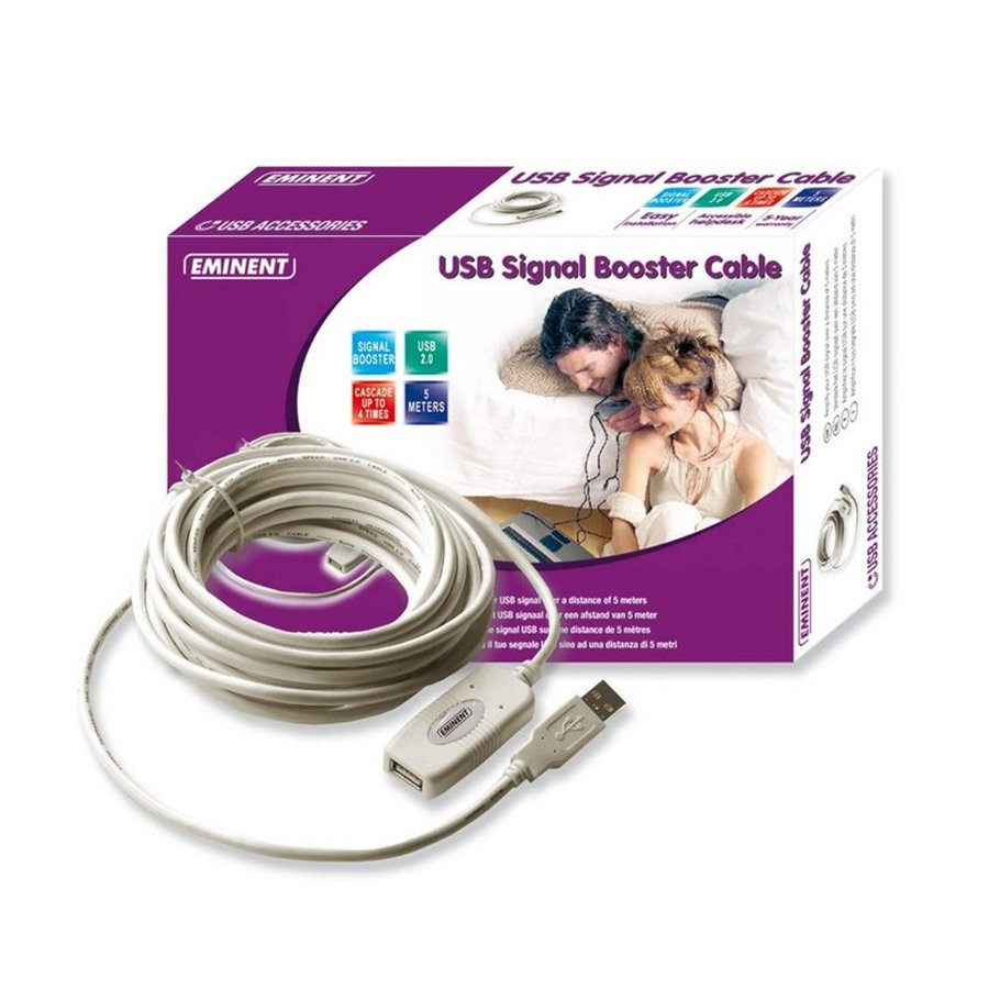 Eminent USB signaal booster kabel 5 meter-1