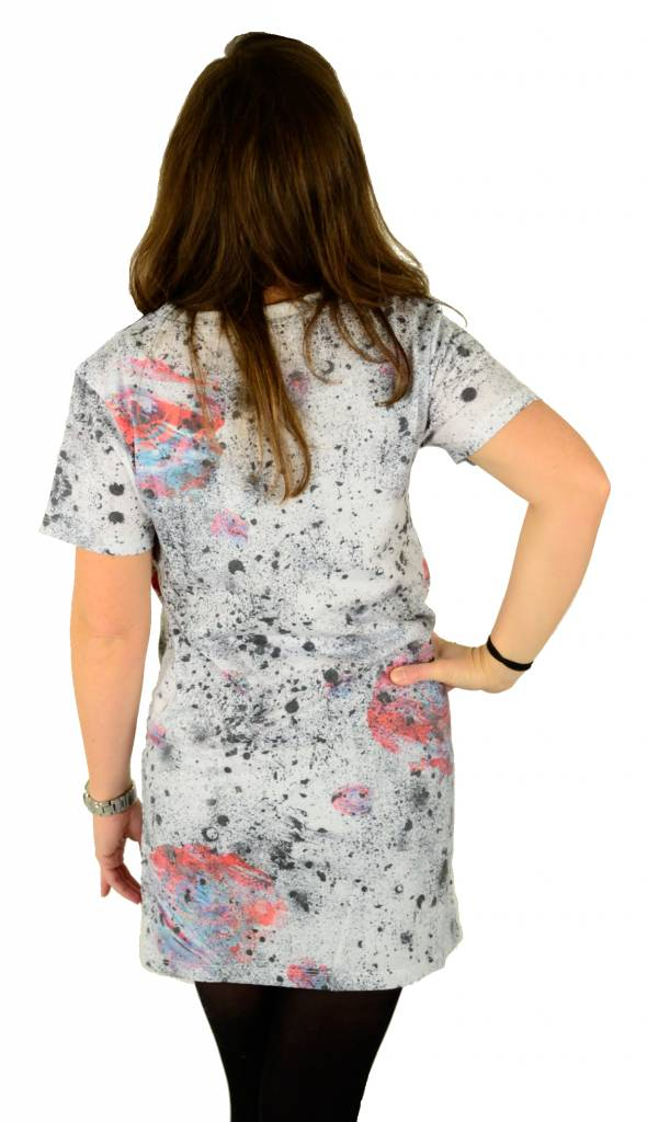 Hype Speckle Rose Tee Dress Multi
