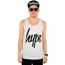 Hype Script Tank Top White/Black