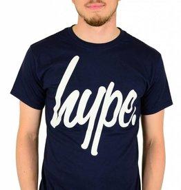 Hype Script T-Shirt Navy/White