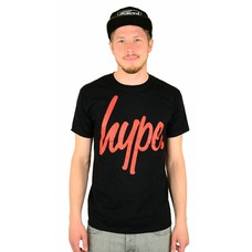 Hype Script T-Shirt Black/Red