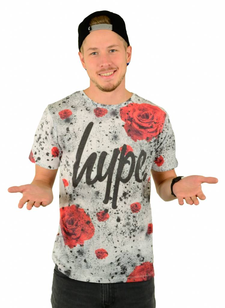 Hype Rose Splat T-Shirt Multi