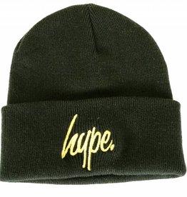 Hype Script Beanie Black/Gold