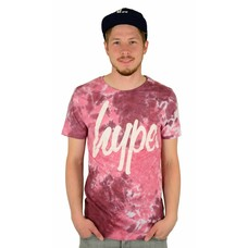 Hype Dye Rust T-Shirt Burgundy/White