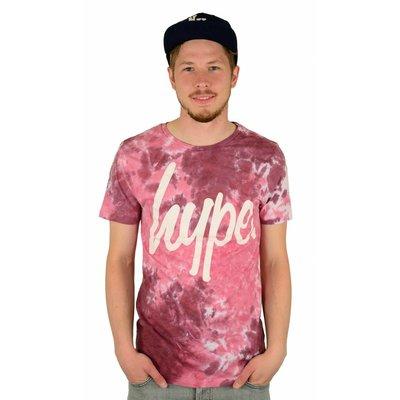 Hype Dye Rust T-Shirt Burgundy/White