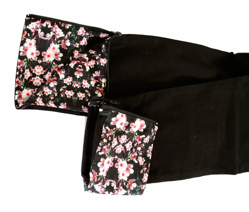 Hype Depth Flowers Chino Trousers Black