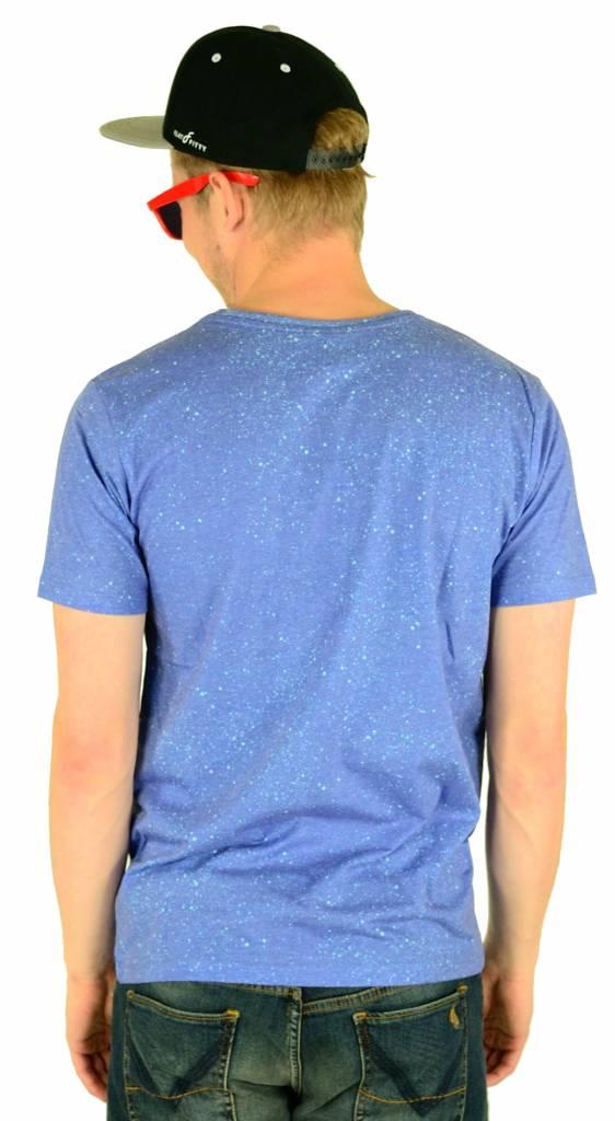 Hype Cyan Speckle T-Shirt Multi