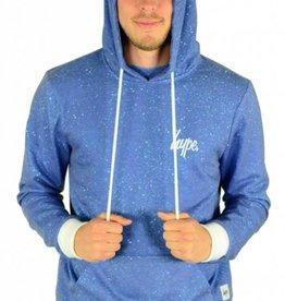 Hype Cyan Speckle Hoodie Blue