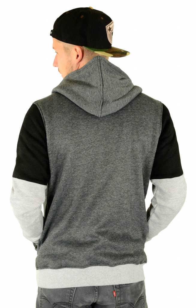 Hype Chrome Panel Zip Hoodie Grey