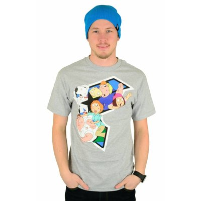 Famous Stars and Straps X Family Guy Griffin Brawl T-Shirt Heather Grey