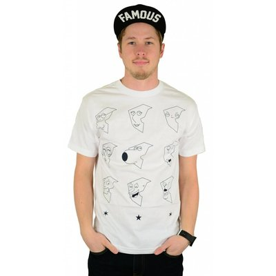 Famous Stars and Straps X Family Guy Boh Face T-Shirt White