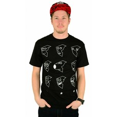 Famous Stars and Straps X Family Guy Boh Face T-Shirt Black