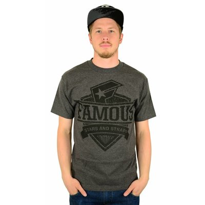 Famous Stars and Straps Worthy T-Shirt Charcoal Heather