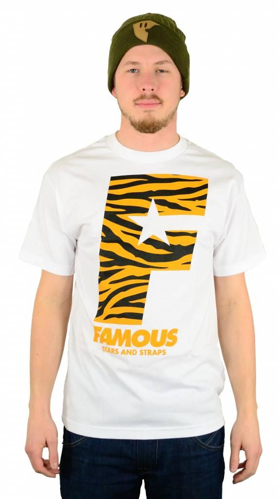Famous Stars and Straps Wildside F Flat T-Shirt White/Orange/Black