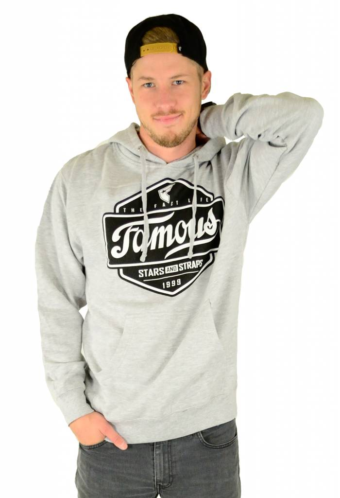 Famous Stars and Straps Top Choice Pullover Fleece Hoodie Heather Grey
