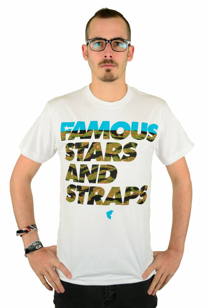 Famous Stars and Straps Tiger Text T-Shirt White