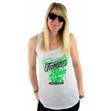 Famous Stars and Straps Threes Monty Cosmo Tank White