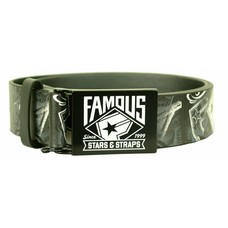 Famous Stars and Straps The Wall P.U. Belt Black/White/Grey