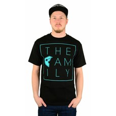 Famous Stars and Straps The Family T-Shirt Black/Teal