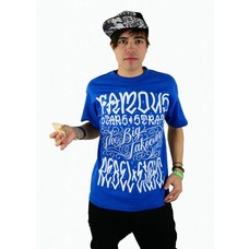 Famous Stars and Straps Taking Names T-Shirt Royal/White