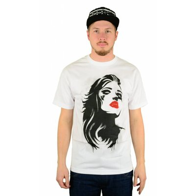 Famous Stars and Straps Stencil T-Shirt White/Black/Red