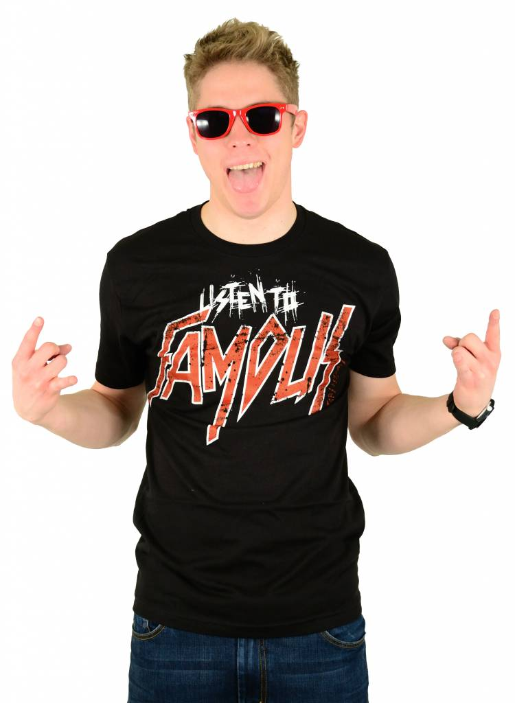 Famous Stars and Straps Slayed Premium T-Shirt Black/Red/White