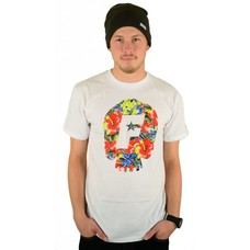 Famous Stars and Straps Skull Bloom Premium T-Shirt White