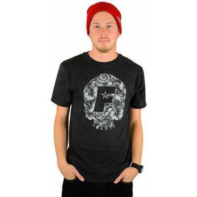 Famous Stars and Straps Skull Bloom Premium T-Shirt Black Heather