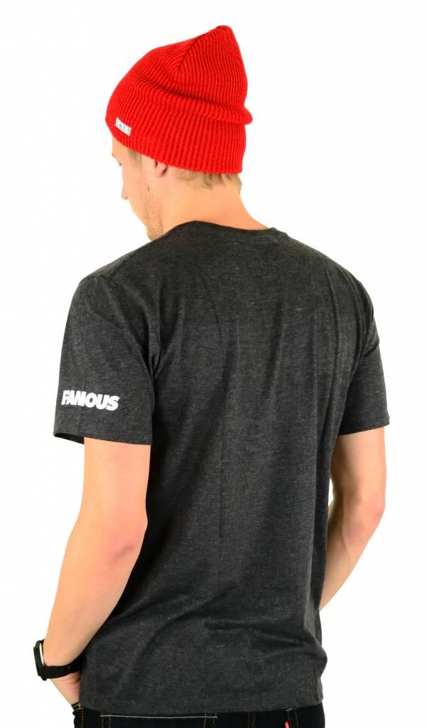 Famous Stars and Straps Skull Bloom Premium T-Shirt Black Heather
