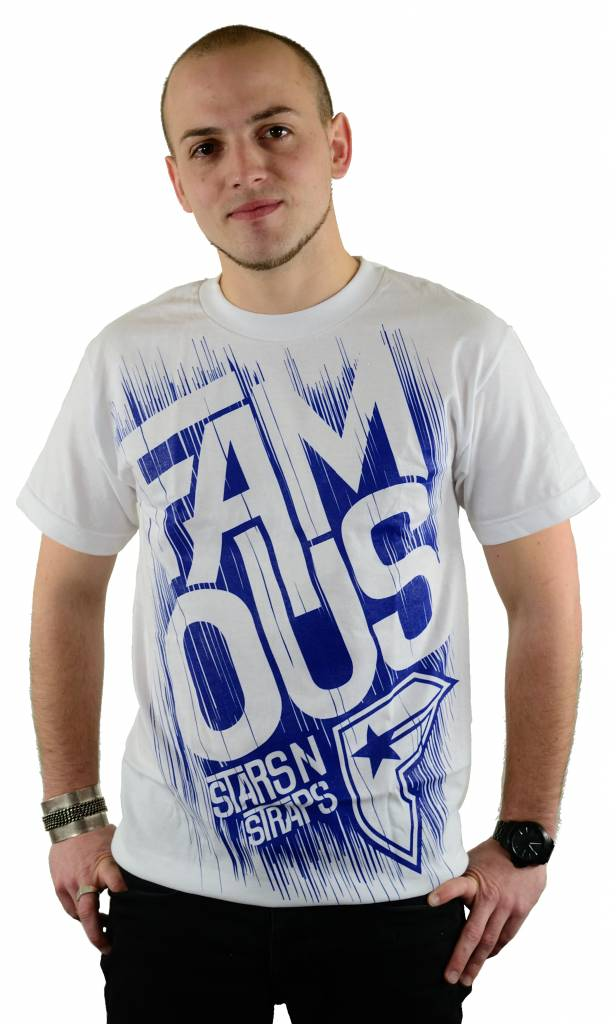 Famous Stars and Straps Run off T-Shirt White