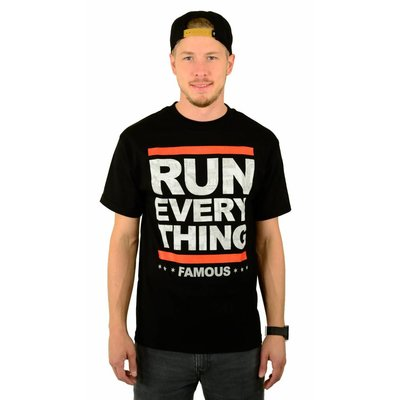Famous Stars and Straps Run Everything T-Shirt Black