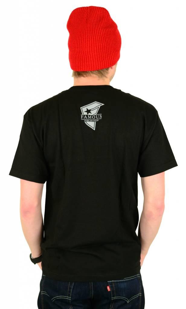 Famous Stars and Straps Rose Skull T-Shirt Black